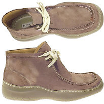 Tan or brown swede shoes from Wallabee