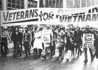 Vietnam War Veterans Protesting the war (17kb)
