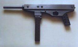 handmade 9mm submachine gun