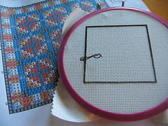 Cross-stitch quilt - WIP
