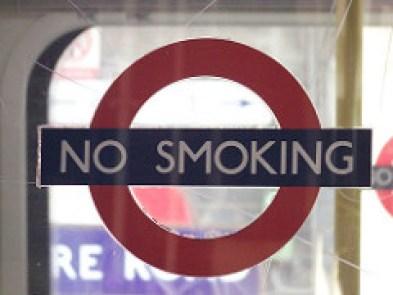 no smoking tube sign