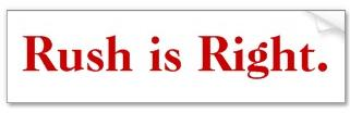 Click to Buy your own Rush is Right Bumper Sticker!