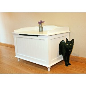 Designer Catbox Litter Box Enclosure in White