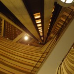 Looking up the elevator