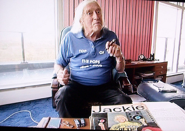 Innovative British DJ and alleged pervert Jimmy Saville by surprise truck on flickr