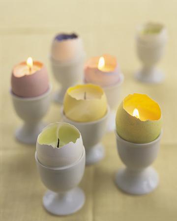 Créez des bougies décoratives de Pâques