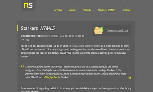 Free Stakers HTML5 WordPress Theme 10 Free HTML5 WordPress Themes