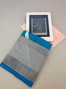 first attempt at a sleeve for my Kobo Mini.