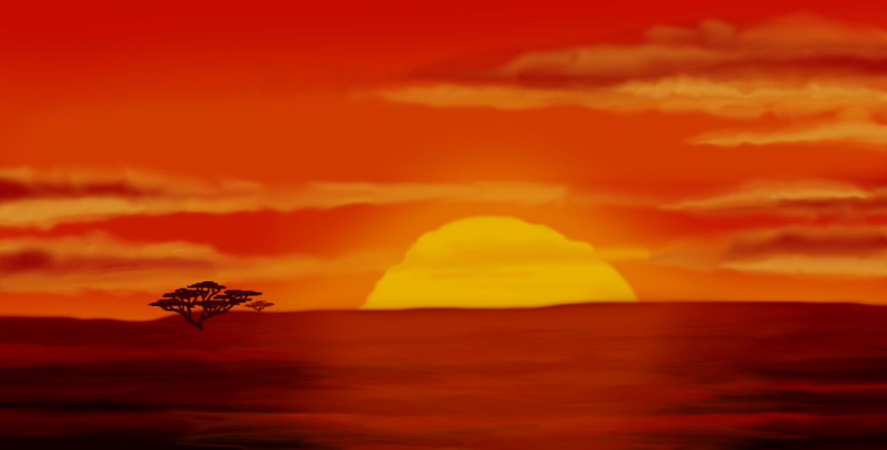 The Lion King opening scene