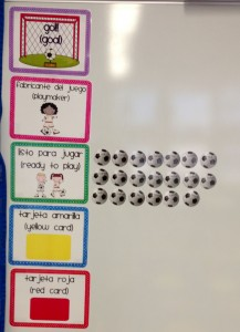 Futbol Clip Chart with Soccer Balls