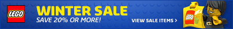 Save up to 20% at the LEGO Shop Winter Sale.  Valid through JAN 31, 2014 or while supplies last.