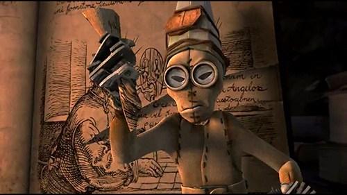 Quando as bonecas abrir Peracelsus ', uma lágrimas a página que descreve sua própria criação.