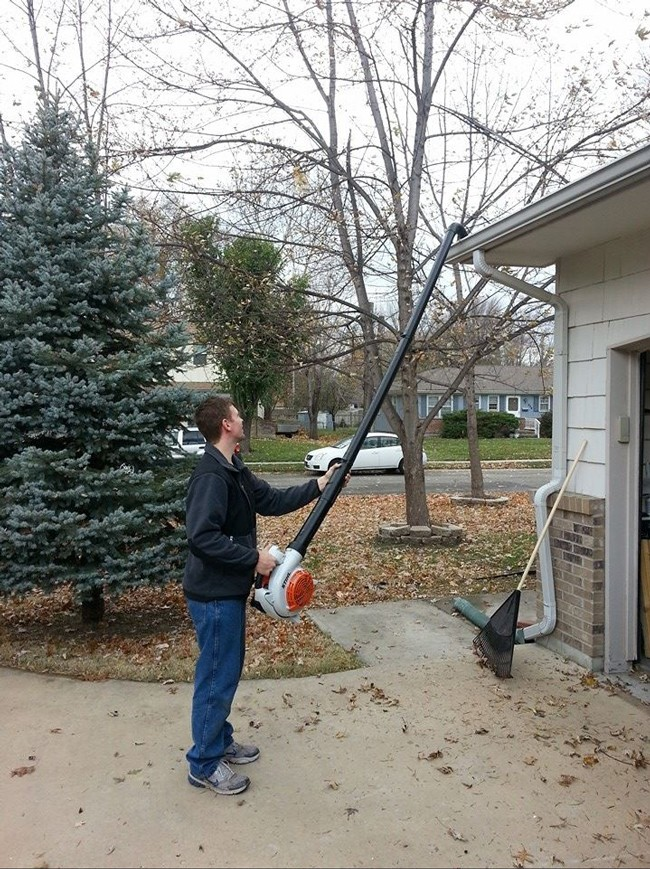 %20Use%20a%20leaf%20blower%20and%20PVC%20pipes%20to%20clean%20gutters%20without%20a%20ladder