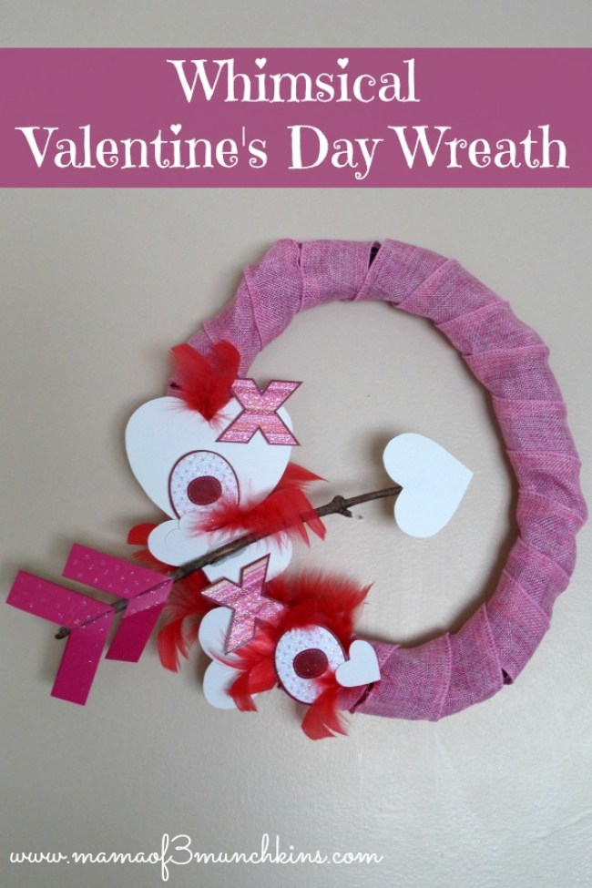Whimsical Valentine's Day Wreath