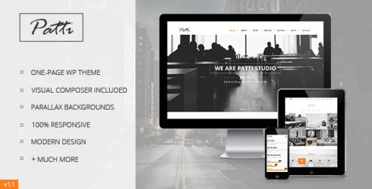 patti parallax theme WordPress