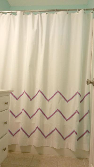 DIY Fabric Shower Curtain