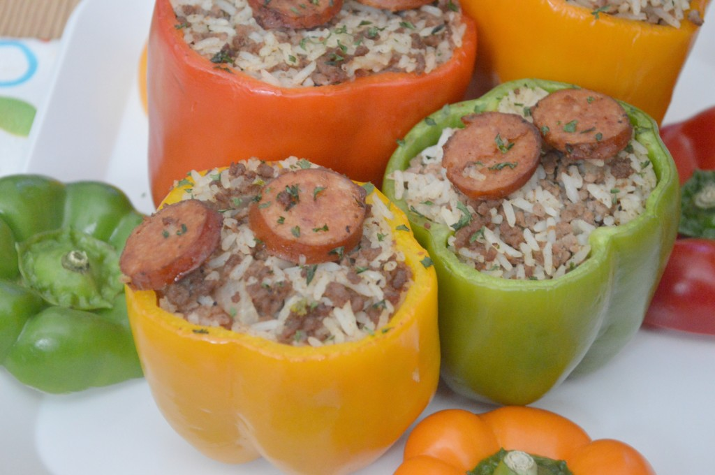 Dirty Rice Stuffed Bells