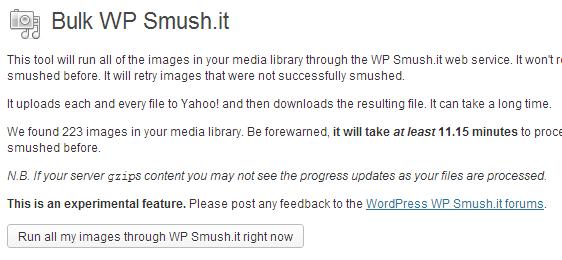 Bulk Smush.it WordPress images