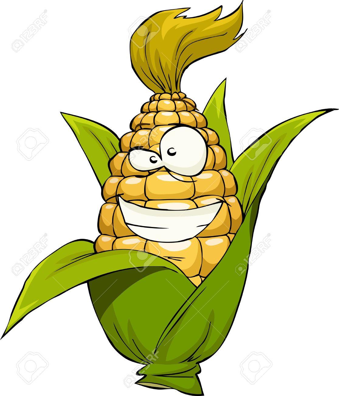 12356607-Corn-on-a-white-background-vector-illustration-Stock-Vector-corn-cob-cartoon
