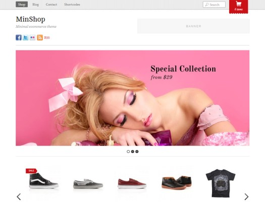 minshop WordPress ecommerce shopping theme