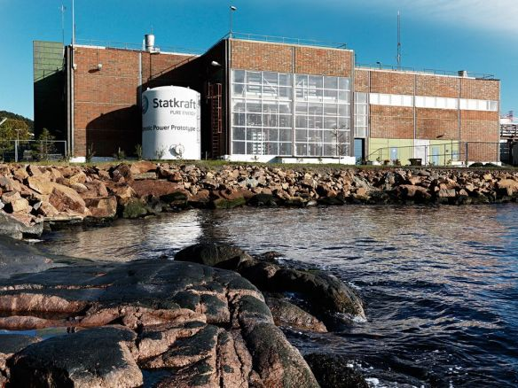 A prototype osmotic power plant in Tofte, Norway.