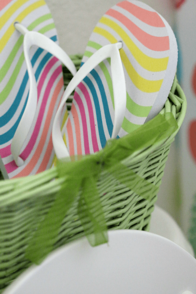 Simple Flip Flop Basket