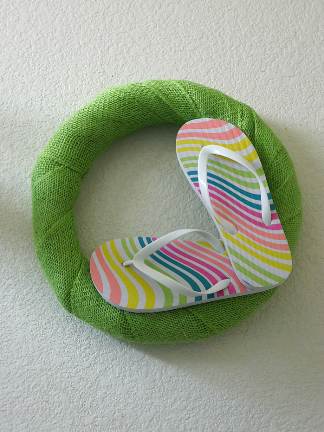 Colorful Flip Flop Wreath