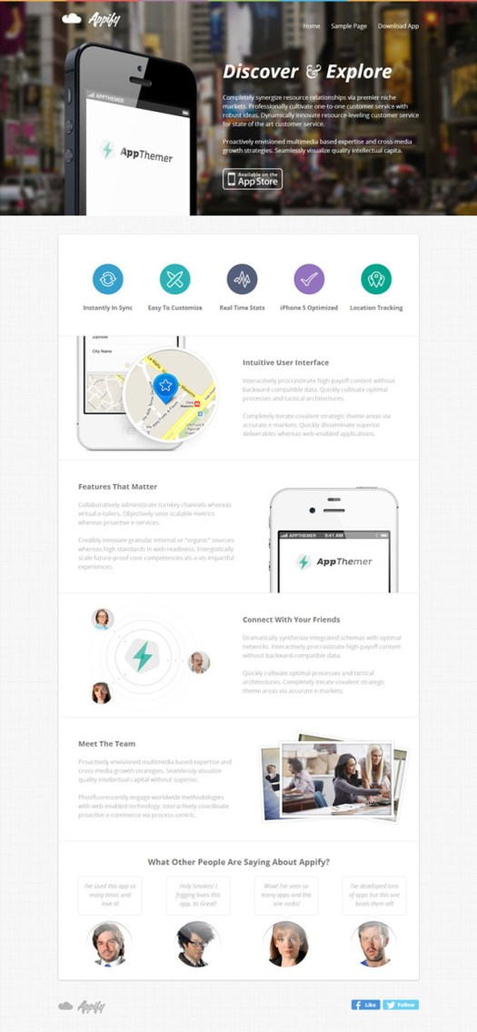 appify-landing-page-theme