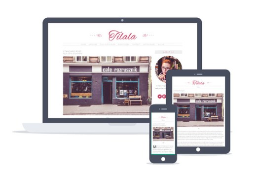 wordpress feminine theme