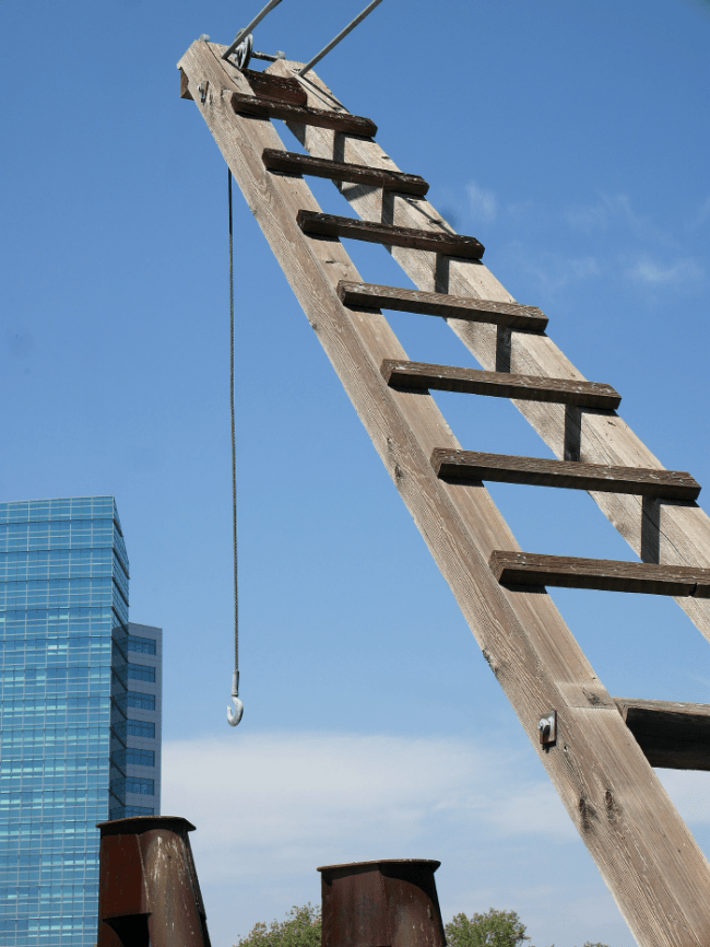 Ladder in old sacramento