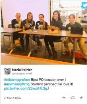 Grafton High Students share their learning experience at EdCamp Grafton