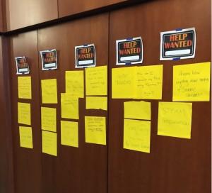 "The EdCamp Grafton ""Help Wanted"" board"