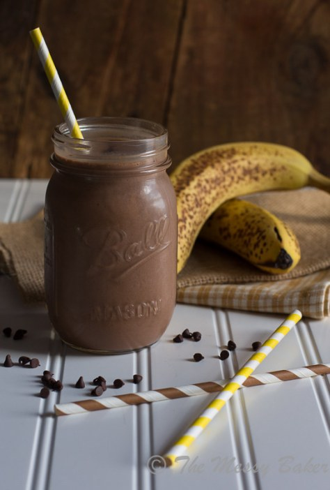 Chocolate, Peanut Butter and Banana Smoothie
