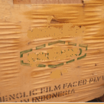 markings on the plywood crates found during cargo damage surveying