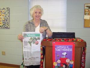 Pat Crisp does a wonderful job planning VOE each month!