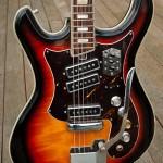 Silvertone 1445 Flamed Maple Body, Triple Pickups, Whammy Bar