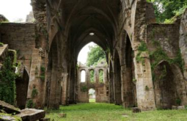 De heilige Petrus Julianus Eymard te Sleihage Hooglede destruction de l'abbye trois-Fontaines