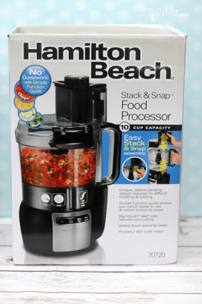 Hamilton Beach Stack and Snap 10 Cup Food Processor