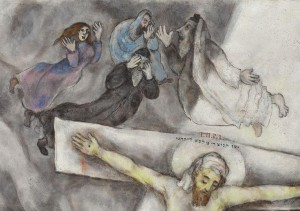 Ontstaan ​​van het verlangen volgens Jean-Michel Oughourlian Art of Chagall on the Cross has as subject Marc Chagall himself, the holocaust, the jews, Jesus Christ, the bible, judaism, forgiveness, resurrection