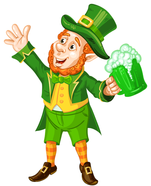 St_Patrick_Day_Leprechaun_with_Green_Beer_Transparent_PNG_Picture