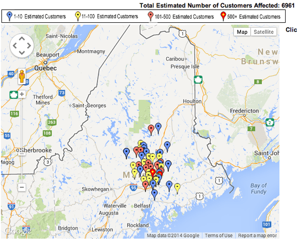 Cmp Outages Map