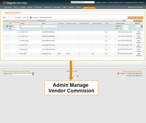 Administrator Assigning commissions for the Vendors using Administrator Control Panel