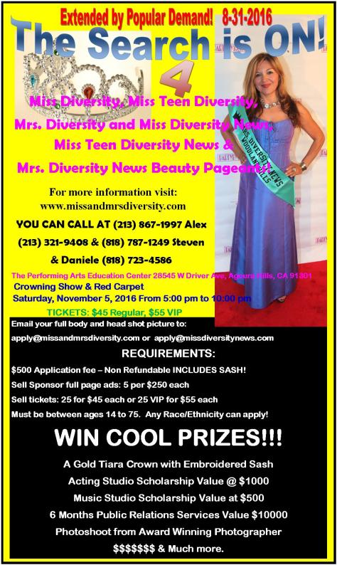 The Search is ON - Miss-Diversity-Miss-Teen-Diversity-Mrs.-Diversity-and-Miss-Diversity-News-Miss-Teen-Diversity-News-Mrs.-Diversity-News-Pageants-1