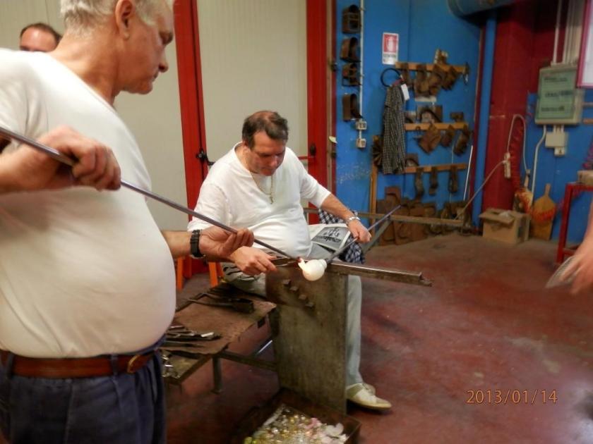 Murano chandelier realization