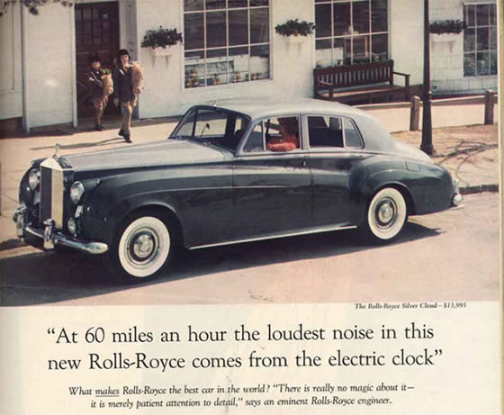 Levi Quackenbush really should Google more. Rolls Royce has been advertising its cars for a long time.
