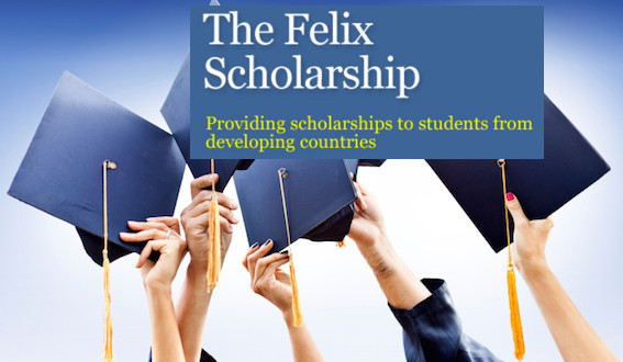 2019 Felix Scholarships - University Of Reading, UK.