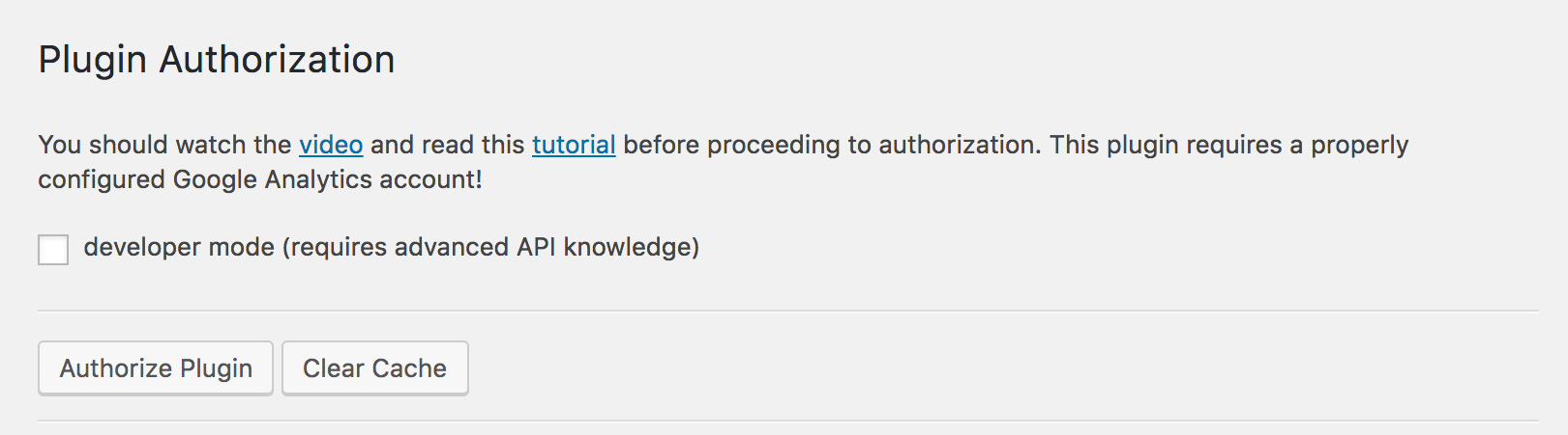 Screenshot of general settings page.
