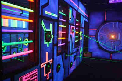 Lazer Gate's laser trap