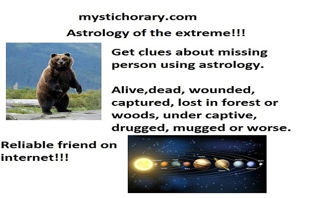 missing person horary astrology