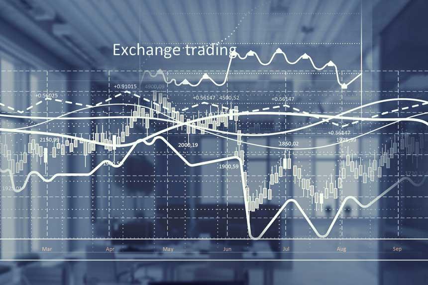 複数のチャートとExchange tradingの文字